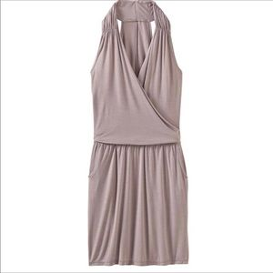 Athleta Crosstown Dress in Foxtail Taupe
